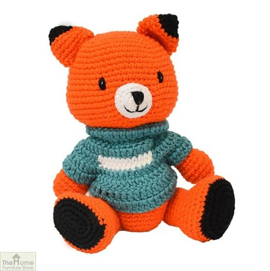 Fox Knitted Toy Blue