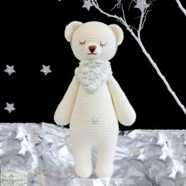 Bear Knitted Toy White