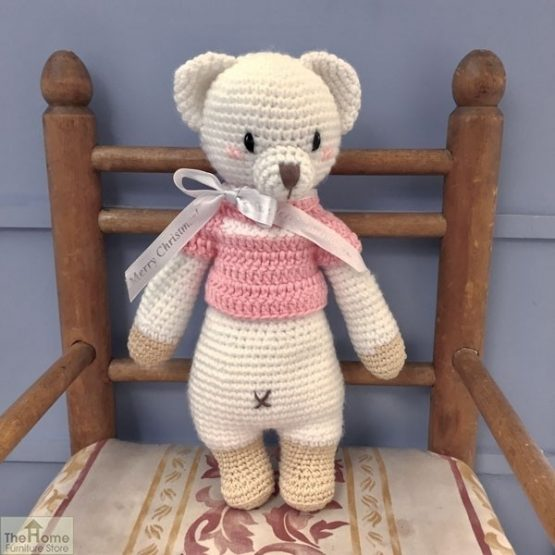 Bear Knitted Toy Pink_2