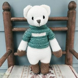 Bear Knitted Toy Blue_1
