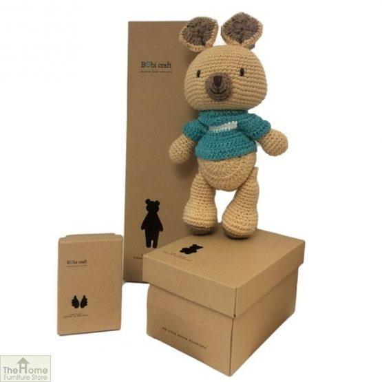 Kangaroo Knitted Toy Blue_1