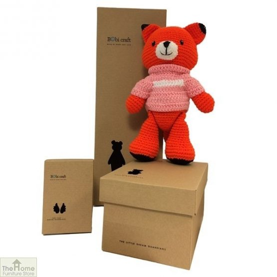 Fox Knitted Toy Pink_1