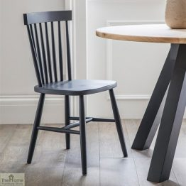 Spindle Back Chair Dark Grey_1