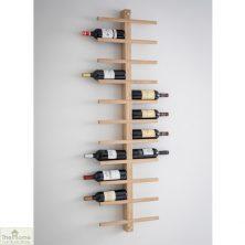 Raw Oak Wine Rack