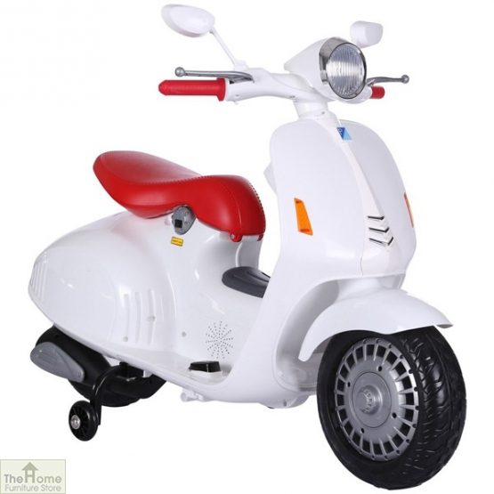 White Electric Ride On Scooter_2