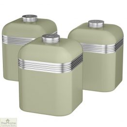 Green Retro Kitchen Canisters