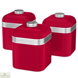 Red Retro Kitchen Canisters