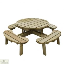 8 Seater Circular Picnic Table_3