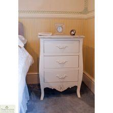 Devon Shabby Chic Bedside Table 3 Drawer