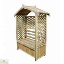 Wooden Arbour Storage Seat