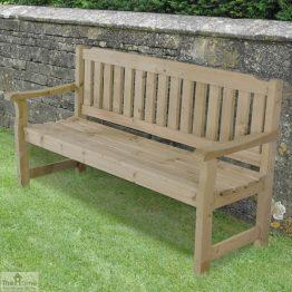 3 Seater Wooden Garden Bench_1