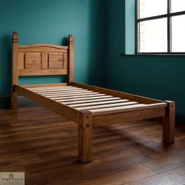 Solid Pine Single Bed Low Foot End_1