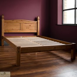 Solid Pine King Size Bed Low Foot End_1