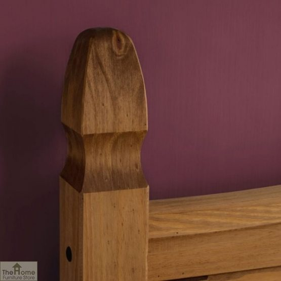 Solid Pine King Size Bed Low Foot End_5