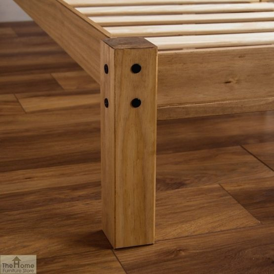 Solid Pine King Size Bed Low Foot End_6