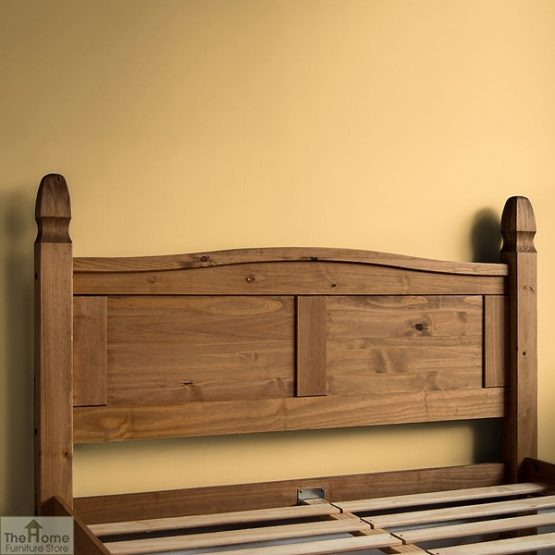 Solid Pine King Size Bed High Foot End_4