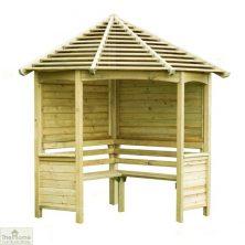 Large Wooden Corner Arbour Seat