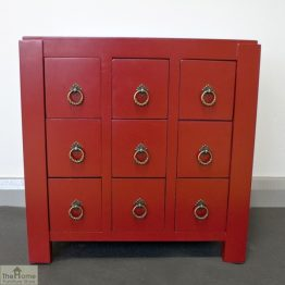 Casamoré Jasmine Red 9 Drawer Unit_1