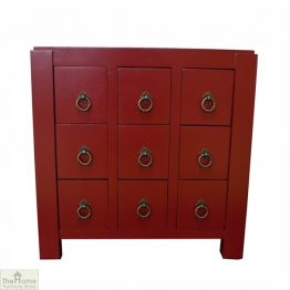 Casamoré Jasmine Red 9 Drawer Unit