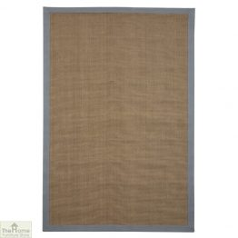 Grey Border Rectangular Jute Rug