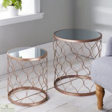 Mirrored Side Table Nest