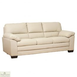 Toledo Leather 3 Seat Sofa Bed