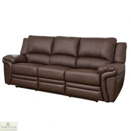 Harrington Leather 3 Seat Reclining Sofa