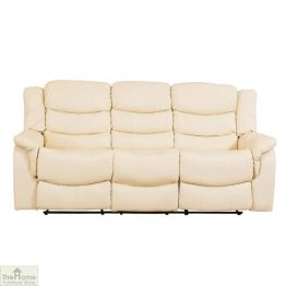 Livorno Leather 3 Seat Reclining Sofa
