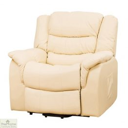 Livorno Leather Reclining Massage Armchair