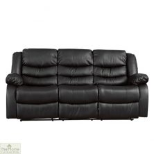 Verona Leather 3 Seat Reclining Sofa