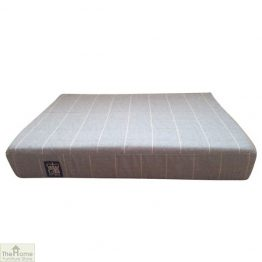 Gold Check Memory Foam Dog Bed