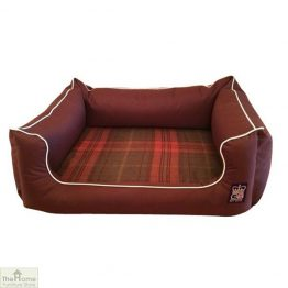 Brown Memory Foam Dog Settee Bed