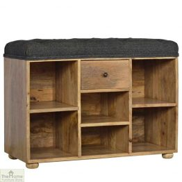 Tweed 6 Shelf Shoe Bench_1