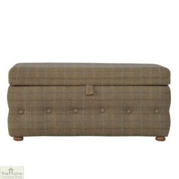 Multi Tweed Storage Ottoman