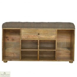 Tweed 1 Drawer Shoe Bench