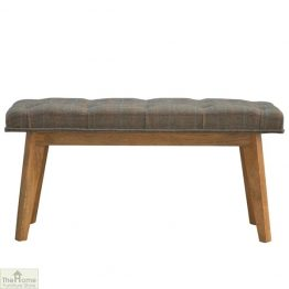 Tweed Wooden Bench