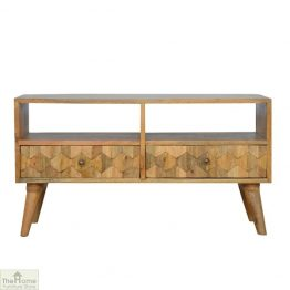 Kaliko Carved 2 Drawer TV Unit
