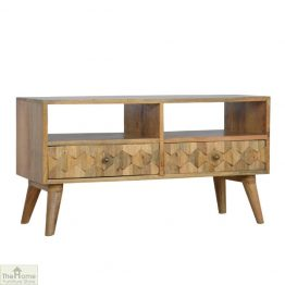Carved 2 Drawer TV Unit_1