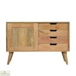 Winchester Natural Sliding 4 Drawer Cabinet