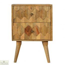 Kaliko Carved 2 Drawer End Table