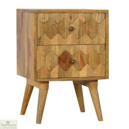 Carved 2 Drawer End Table_1
