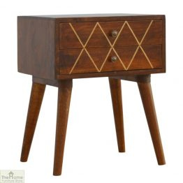 Balmoral Gold Inlay 2 Drawer Bedside Table_1