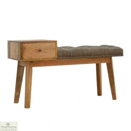 Tweed 1 Drawer Wooden Bench_1
