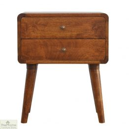 Highgrove Curved 2 Drawer End Table