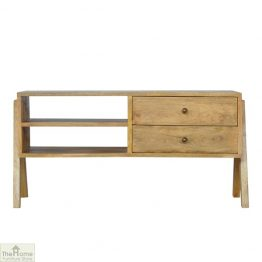 V-Shaped 2 Drawer TV Unit