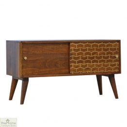 Gold Pattern Sliding Door Cabinet_1