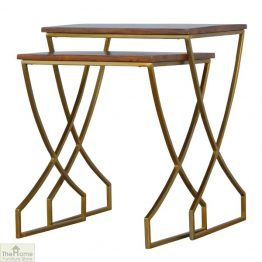 Gold Finish Nest 2 Tables_1