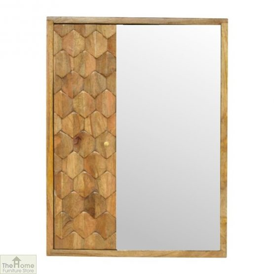 Kaliko Carved Mirrored Cabinet
