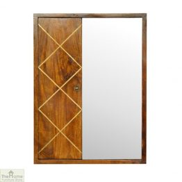 Balmoral Gold Inlay Mirrored Cabinet