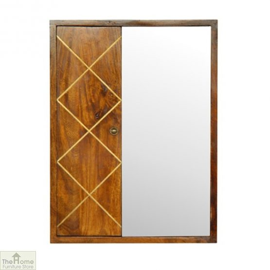 Balmoral Gold Inlay Mirrored Cabinet